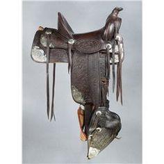 Small Silver Royal Silver Bright Cut Edge Western Show Saddle Corner Plate