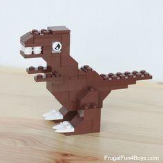 Five LEGO Dinosaurs to Build - lego instr - Lego Creator, Pokemon Lego, Lego Challenge, Lego Animals, Lego Club, Lego Craft, Lego For Kids, Lego Blocks, Lego Design