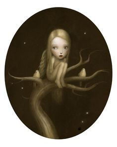 Nicoletta Ceccoli. Reminds me of you when you were little and your beloved trees...