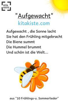"""""""Aufgewacht"""" - wudnerschönes Frühlingslied für #kindergarten #grundschule #kinderchor #musikunterricht - Noten / mp3 findest Du auf kitakiste.com"""