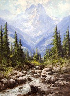 Watercolor Landscape, Abstract Landscape, Landscape Paintings, Nature Pictures, Art Pictures, Albert Schweitzer, Oil Painting Pictures, Winter Painting, Nature Artwork