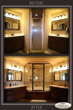 Nice Corner Shower and Bathtub Combo with Glass Shower Enclosure ...