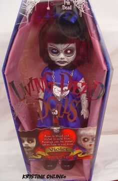 Amazon.com: Mezco Toyz Living Dead Dolls Twisted Love Violet: Toys & Games Living Dead Dolls, Spooky Halloween Decorations, Creepy Dolls, Dollhouse Dolls, Macabre, Dollhouses, Dark Side, Skulls, Gothic
