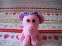 Pink Baby Elephant Edible Gumpaste Cake or by SugarArtByTami, $4.95