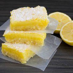 Short Bread Lemon Bars -- Rich, creamy, and slightly tart lemon bars with a wonderful shortbread crust.