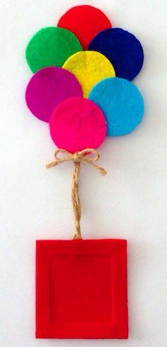 ♥ Colors of the Rainbow Preschool Crafts, Diy Crafts For Kids, Art For Kids, Felt Diy, Felt Crafts, Paper Crafts, Felt Decorations, Frame Crafts, Baby Kind