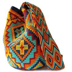 Chilax Wayuu Mochila Bag   LOMBIA + CO. Textiles, Tapestry Crochet, Crochet Fashion, Fair Trade, Night Out, Artisan, Crochet Bags, Handmade, Fun Ideas