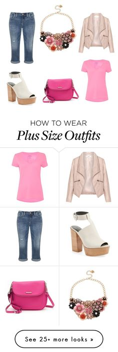 """""""Say Something Alluring"""" by sassyladies on Polyvore featuring Betsey Johnson, Zizzi, Polo Ralph Lauren, Silver Jeans Co., Rebecca Minkoff and Dana Buchman"""