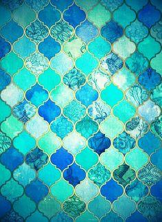 Gorgeous custom Moroccan tiles! #Interiordesign #Decor #Tiles #Moroccan. www.mycraftwork.com.