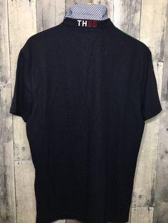cbeea7c86 Tommy Hilfiger Men's Color Block Pique Short Sleeve Polo Shirt Sz Large