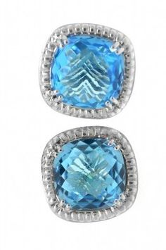 Charles Krypell Silver And Blue Topaz Earrings | curated via @jacquelinecitrin