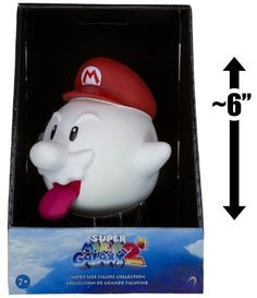 """Boo Mario ~6"""" Figure: Super Mario Galaxy 2 - Super Size Figurine Collection by Nintendo. $21.86. Collect them all.. There are 2 figures in this series (EACH SOLD SEPARATELY): Boo Mario, Flying Mario.. Love the popular Super Mario franchise? Want more? Introducing the Super Mario Galaxy 2 - Super Size Figurine Collection. It's the perfect gift for your loved one, whether it's for the birthday, Christmas, Graduation, Valentine's Day, or any holiday.. Recommended..."""