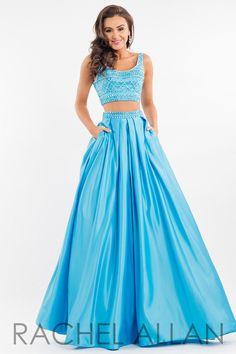 Rachel Allan 7505 Aqua Two Piece Prom Dress