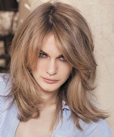 Shoulder Length Layered Hairstyles for Women Over 50