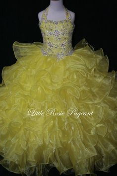 Hot Sale New Little Rosie Pageant Dresses For Girls Long Skirt Halter Beads & Beading Rhinestone Organza Tiered Kids Formal Wear Sweep Train Girl Occasion Dresses Girl Pageant Dress From Liuliu8899, $156.65| Dhgate.Com
