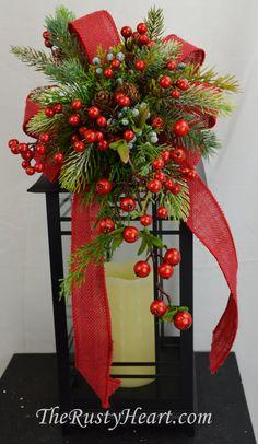 Navidad linterna botín botín de Navidad swag de por TheRustyHeart