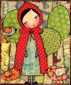 Little Red Riding Hood PRINT. $20.00, via Etsy.