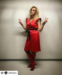 The amazing Elli from Haloo Helsinki is rocking our PRETTY dress!  #Repost @ellihaloo with @repostapp ・・・ HOLA aiwo-amiiigos och maailma! Thänx kaikille eilisistä Emma vedon tsempeistä ja fiboista!! Ja onnea kaikille kaikesta <3 Hulluuden highway pyörii mut tärkeintä on RAKASTAA!! Lowee ja waloo iltaan lenkkarikoron noustessa ilmaan ja sitriinit ja savukvartsit suhisemaan <3 ! Pus <3 #hulluudenhighway thänx @jussisallinen