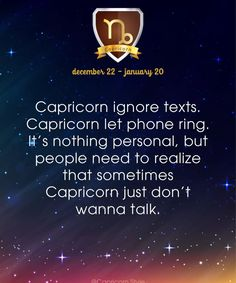 The sooner folks learn that this is nothing personal towards them but it's how we decompress, the better off we'll ALL be! Capricorn Facts, Capricorn Quotes, Zodiac Signs Capricorn, Capricorn And Aquarius, My Zodiac Sign, Zodiac Facts, Capricorn Personality, All About Capricorn, Zodiac Society