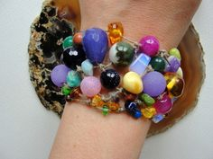 amber, amethyst, agates,unique Handmake BRACELET from Jewelry&Hand Made by DaWanda.com