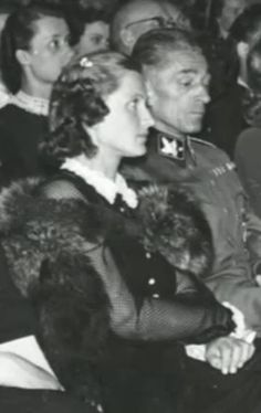 State Secretary of the Protectorate of Bohemia and Moravia Karl Hermann Frank and his wife Karola, woman of amazing beauty and kind heart. Waldstein Palace in Prague, 26.05.1942. Photo from http://www.ceskatelevize.cz/porady/10350893065-heydrich-konecne-reseni