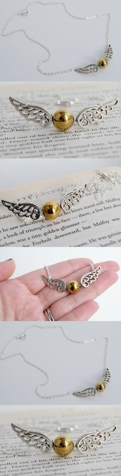 Golden Snitch Harry Potter Necklace! Click The Image To Buy It Now or Tag Someone You Want To Buy This For. #harrypotter