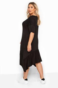 Yours Clothing Women/'s Plus Taille Noir Lin Mélange Pantalon raccourci