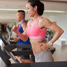 By combining two types of interval training, it gives you a serious sweat session in less time.