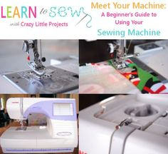 A guide to understanding sewing machine stitches. What are all of these stitches and what do they do?!