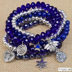 Beatnik Bracelets featuring Bead Gallery beads available at @michaelsstores