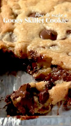 Brownie Recipes, Cookie Recipes, Dessert Recipes, Easy Desserts, Delicious Desserts, Yummy Food, Pork Recipes For Dinner, Skillet Food, Skillet Recipes