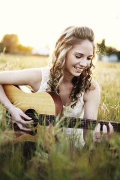 Senior Photography with guitar Guitar Senior Pictures, Guitar Photos, Country Senior Pictures, Senior Girl Poses, Girl Senior Pictures, Music Pictures, Senior Girls, Senior Portraits, Senior Session