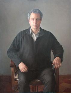 Juan Moreno Aguado Autorretrato O/L 130 x 100 cm.
