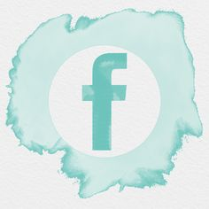 AESTHETIC ICONS, FACEBOOK ICON WATERCOLOR,