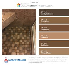 I Found These Colors With Colorsnap Visualizer For Iphone By Sherwin Williams Van Brown Sw 7041 Craft Paper 6125 Umber Rust 9100