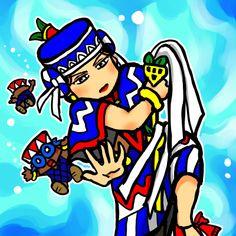 Huixtocihuatl by nosuku-k on DeviantArt Aztec Emperor, Aztec Warrior, Aztec Art, I Really Love You, Character Description, Funny Art, Drawing Tools, Anime Art, Disney Characters