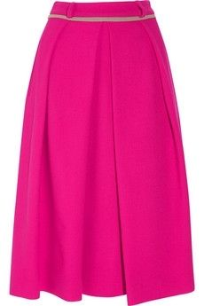 Preen | Box wool-crepe skirt | NET-A-PORTER.COM - StyleSays