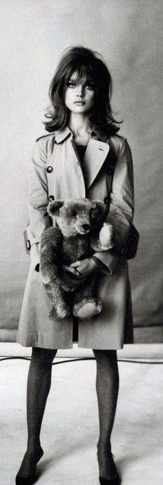 Jean Shrimpton. With teddy.