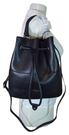 d58114f1c62f Furla Leather Brooklyn Bucket Black Tote Bag. Get one of the hottest styles  of the. Tradesy