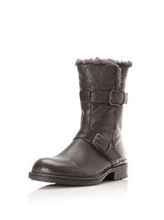 Calvin Klein Men's Gian Double Buckle Boot (Charcoal)