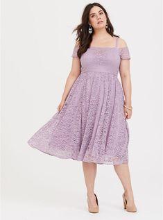 2336b0ff0d8 Special Occasion Purple Cold Shoulder Lace Midi Dress