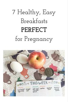 When pregnancy has you waking up FAMISHED in the morning, try one of these quick and healthy breakfasts to get your day started right. Healthy Breakfast Pregnancy, Healthy Pregnancy Diet, Pregnancy Nutrition, Quick Healthy Breakfast, Pregnancy Care, Healthy Breakfasts, Pregnancy Foods, Fertility Food For Women, Fertility Foods