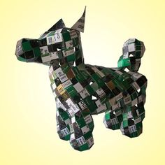 How do you make a Dog out of Cigarette Packets?
