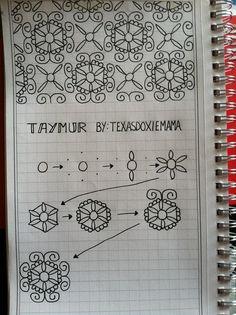 Taymur. Tangle Pattern by Linda Rea / texasdoxiemama.
