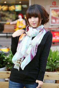 lovely and elegant silk scarf, shawl, wrap!