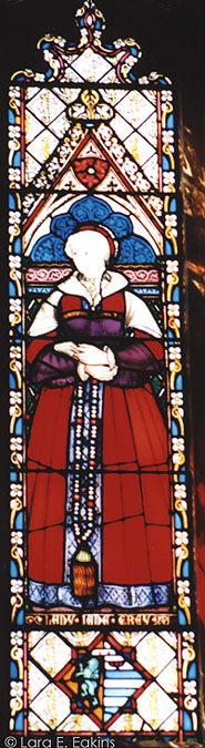Lady Jane Grey stained glass window