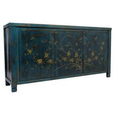 Check out this item at One Kings Lane! Brody 3-Door Sideboard, Blue/Gold