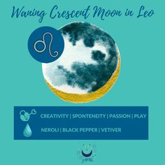 Waning Crescent Moon in leo #waningcrescent #moon #lunar #lunarselfcare #moonmagick