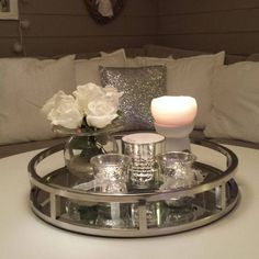 Perfect Silver And Sparkles With Shiny Mirror U2013 Home Decor Ideas