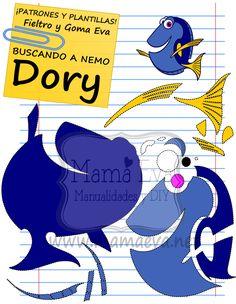 Descarga gratis nuestras plantillas para goma eva y fieltro de tus personajes de Disney favoritos: Nemo, Dori...